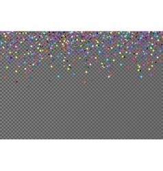 falling confetti horizontal seamless vector image vector image