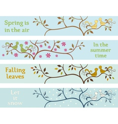 Four seasonal banners vector image vector image