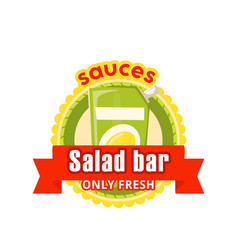 icon for fast food salad bar cafe bistro vector image vector image