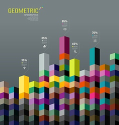 Abstract Geometric paper infographic background vector