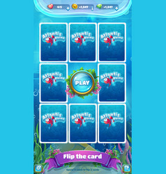 atlantis ruins gui - mobile format flip the card vector image