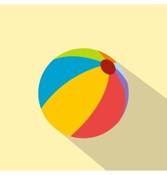 Beach ball flat icon vector image