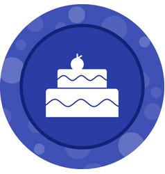Beautiful cake glyph icon vector
