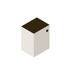 Bedside table icon vector