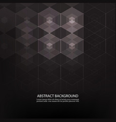 Black abstract background with gray transparent vector