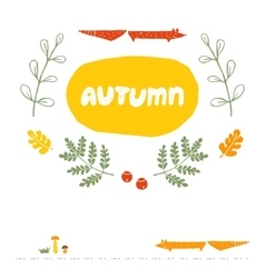 Card Autumn vector image