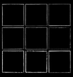 chalked frame set black vector image