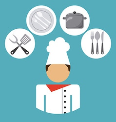 chef job vector image