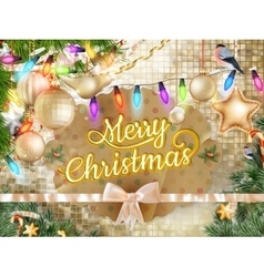 Christmas background decoration EPS 10 vector image