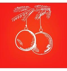 Christmas hand drawn vector image