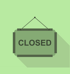 Closed sign icon vector