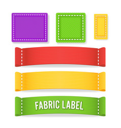 color label fabric blank different sizes vector image