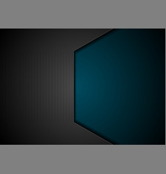 dark blue and black technology background vector image