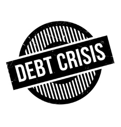 Debt crisis rubber stamp vector