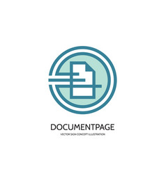 Document page - logo template concept vector