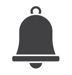 Easter bell glyph icon easter and holiday vector