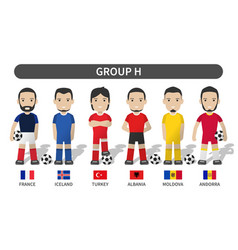 european soccer cup 2020-2021 group h player vector image