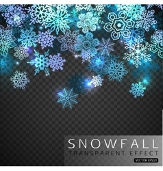 falling snowflakes on transparent background vector image
