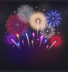 Fireworks realistic background vector