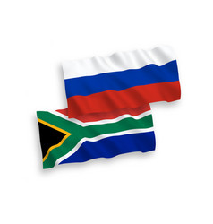 Flags republic south africa and russia vector