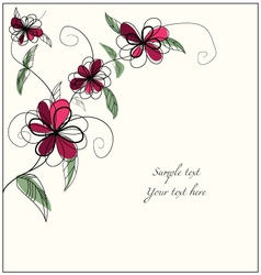 Floral bg with sample text vector image