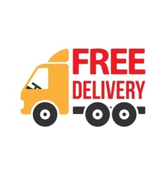 Free Delivery Icon Flat Style vector