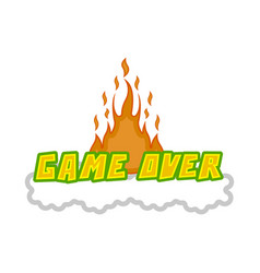 game over concept image vector image