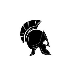 Greek helmet icon black on white background vector