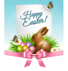 happy holiday background easter eggs vector image