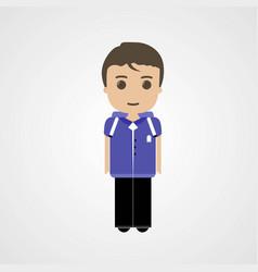 happy schoolboy character eps file vector image