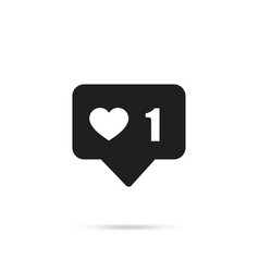 icon like 1thumbs up social media with heart vector image