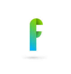 letter f ribbon logo icon design template elements vector image