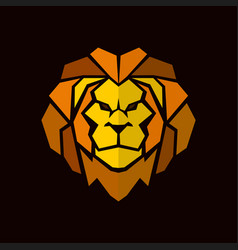 lion head with mane in abstract style vector image