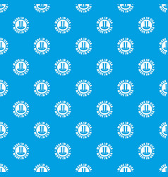 made in usa top hat pattern seamless blue vector image