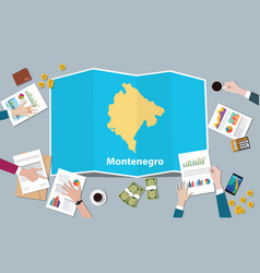 montenegro economy country growth nation team vector image