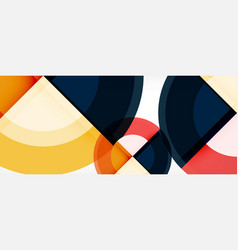multicolored round shapes abstract background vector image