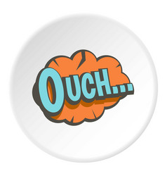 Ouch speech bubble icon circle vector
