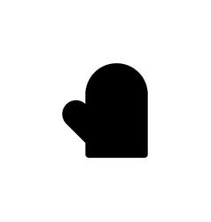 Oven mitt icon vector