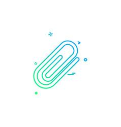 paper pin icon design vector image