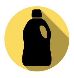 plastic bottle for cleaning flat black vector image