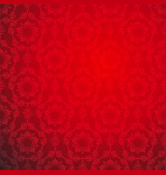 red lace ornamental seamless pattern vector image