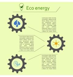 Renewable energy infographics vector image