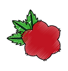 Rose flower tattoo icon vector