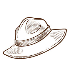 Scout hat or canadian mounted police headdress vector