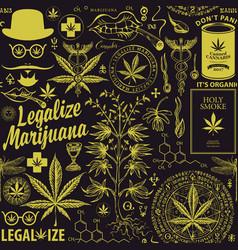 seamless pattern for marijuana legalization vector image