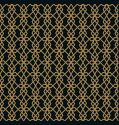 seamless pattern of intersecting thin gold lines vector image