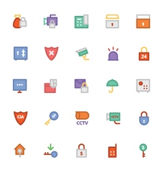 Security Colored Icons 3 vector