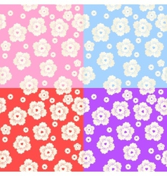 Set of Abstract Colorful Floral Pattern vector image