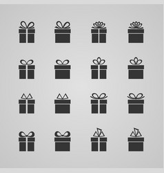 Set of gift boxes vector