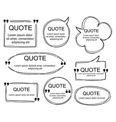 set of scribbled comic speech bubbles vector image